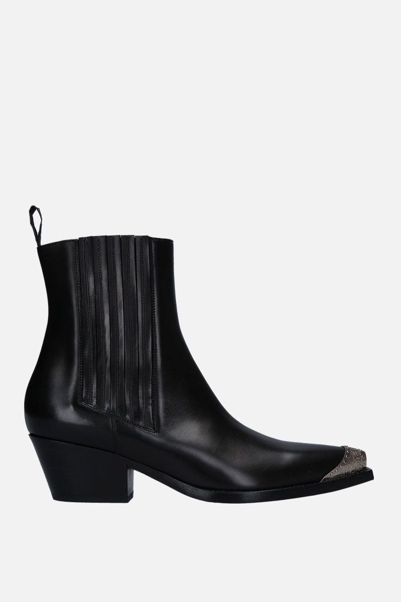 SARTORE: brushed calf western boots Color Black_1