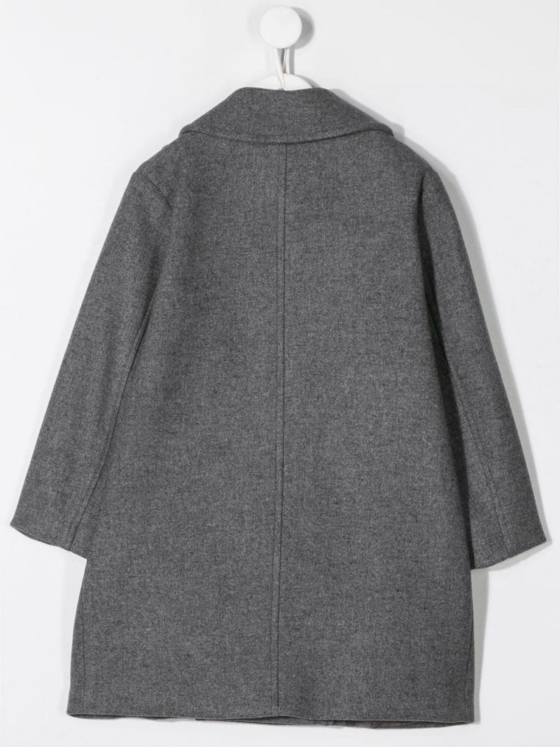 SIMONETTA: double-breasted coat in wool blend Color Grey_2