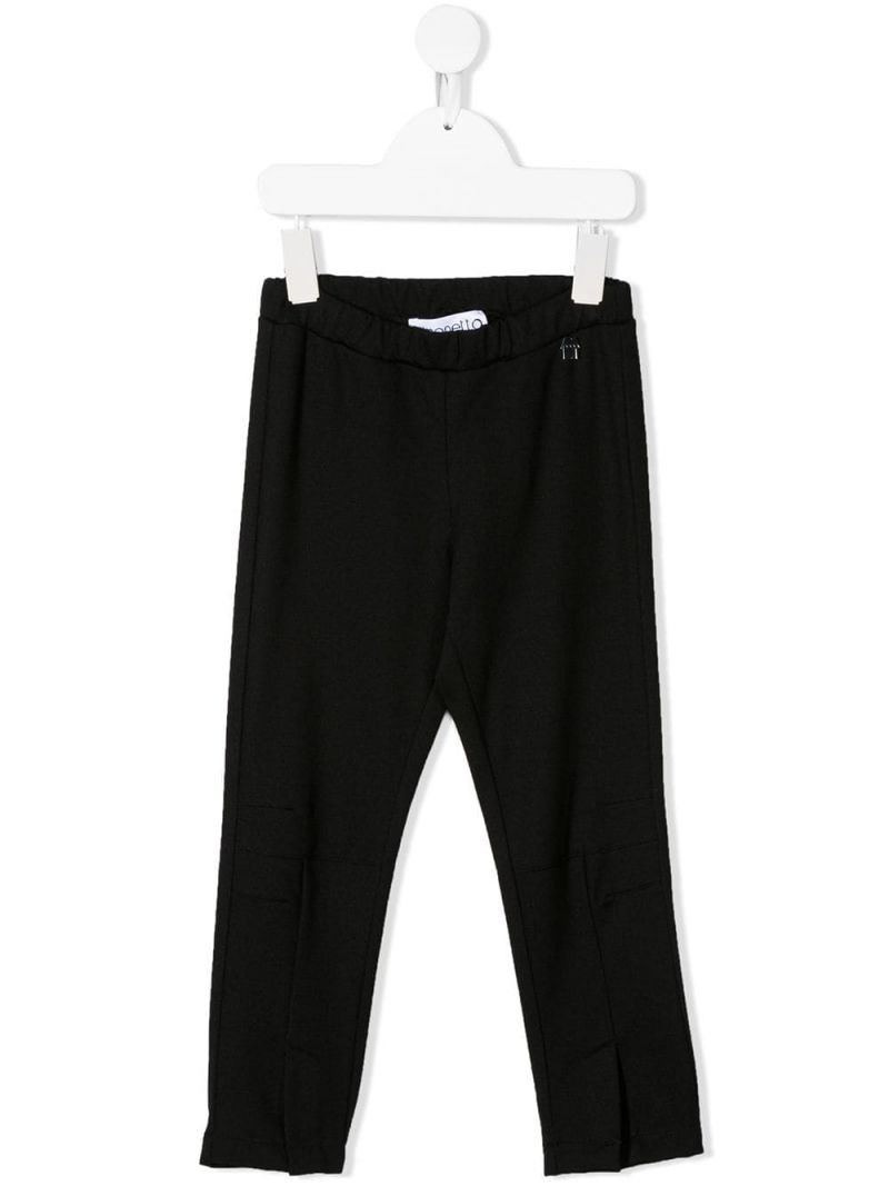SIMONETTA: stretch jersey pants with slits Color Black_1
