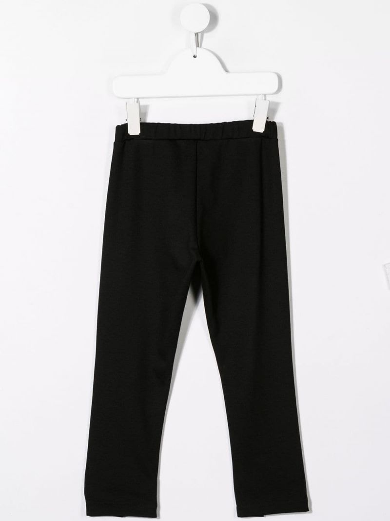 SIMONETTA: stretch jersey pants with slits Color Black_2