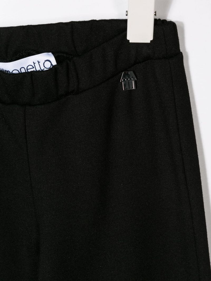 SIMONETTA: stretch jersey pants with slits Color Black_3