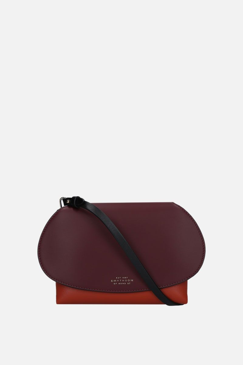 SMYTHSON: Pillow crossbody bag in smooth leather Color Red_1