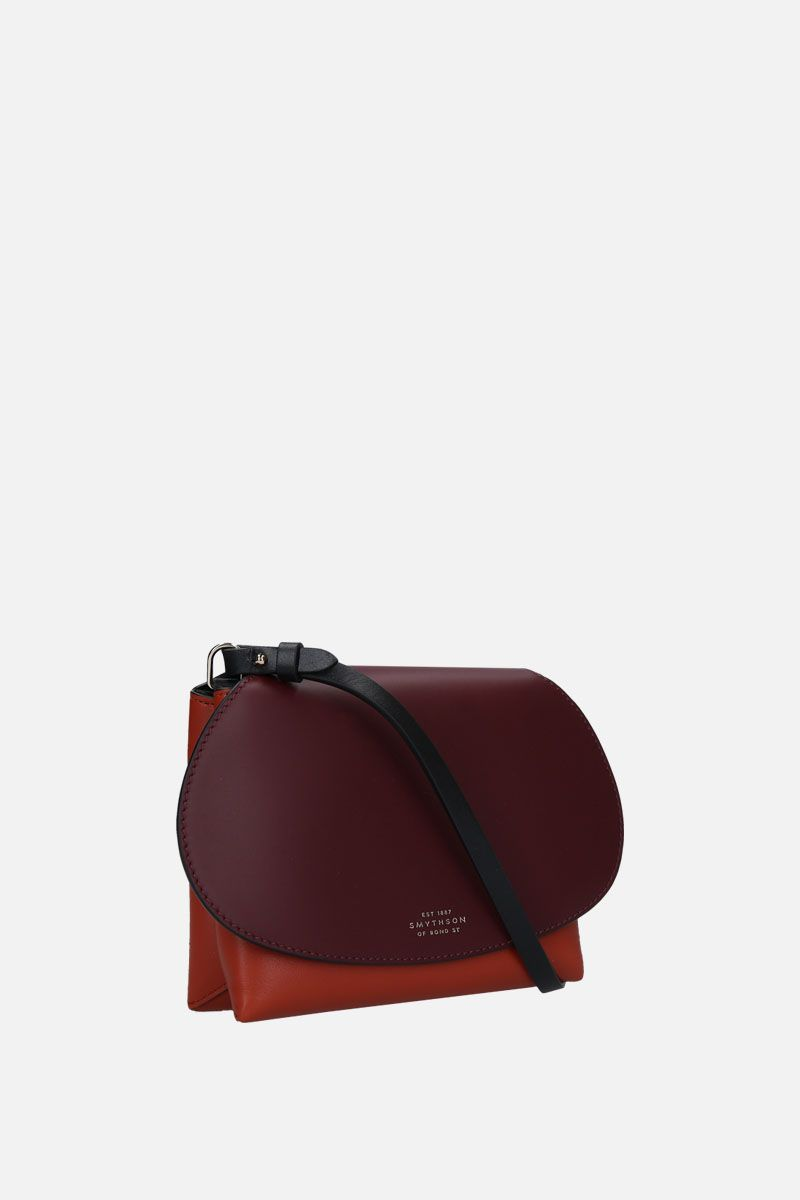 SMYTHSON: Pillow crossbody bag in smooth leather Color Red_2