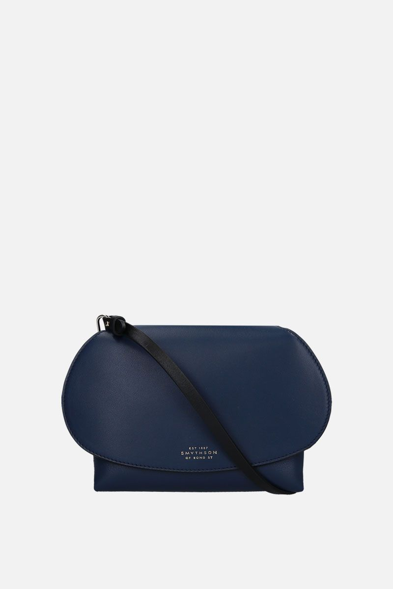 SMYTHSON: Pillow crossbody bag in smooth leather Color Blue_1