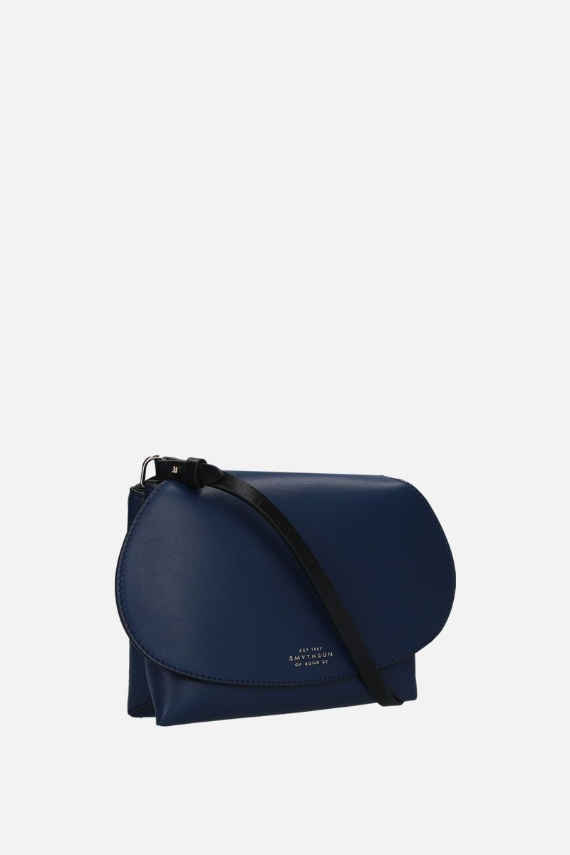 SMYTHSON: Pillow crossbody bag in smooth leather Color Blue_2
