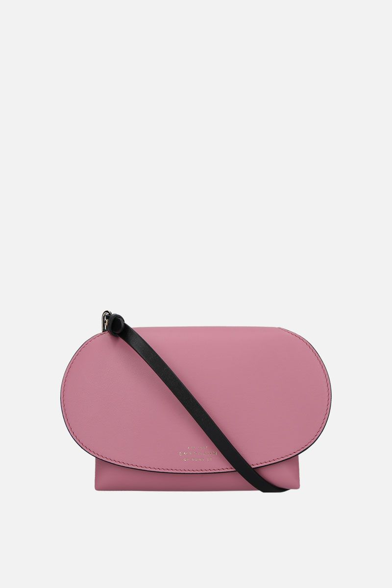 SMYTHSON: Pillow crossbody bag in smooth leather Color Pink_1