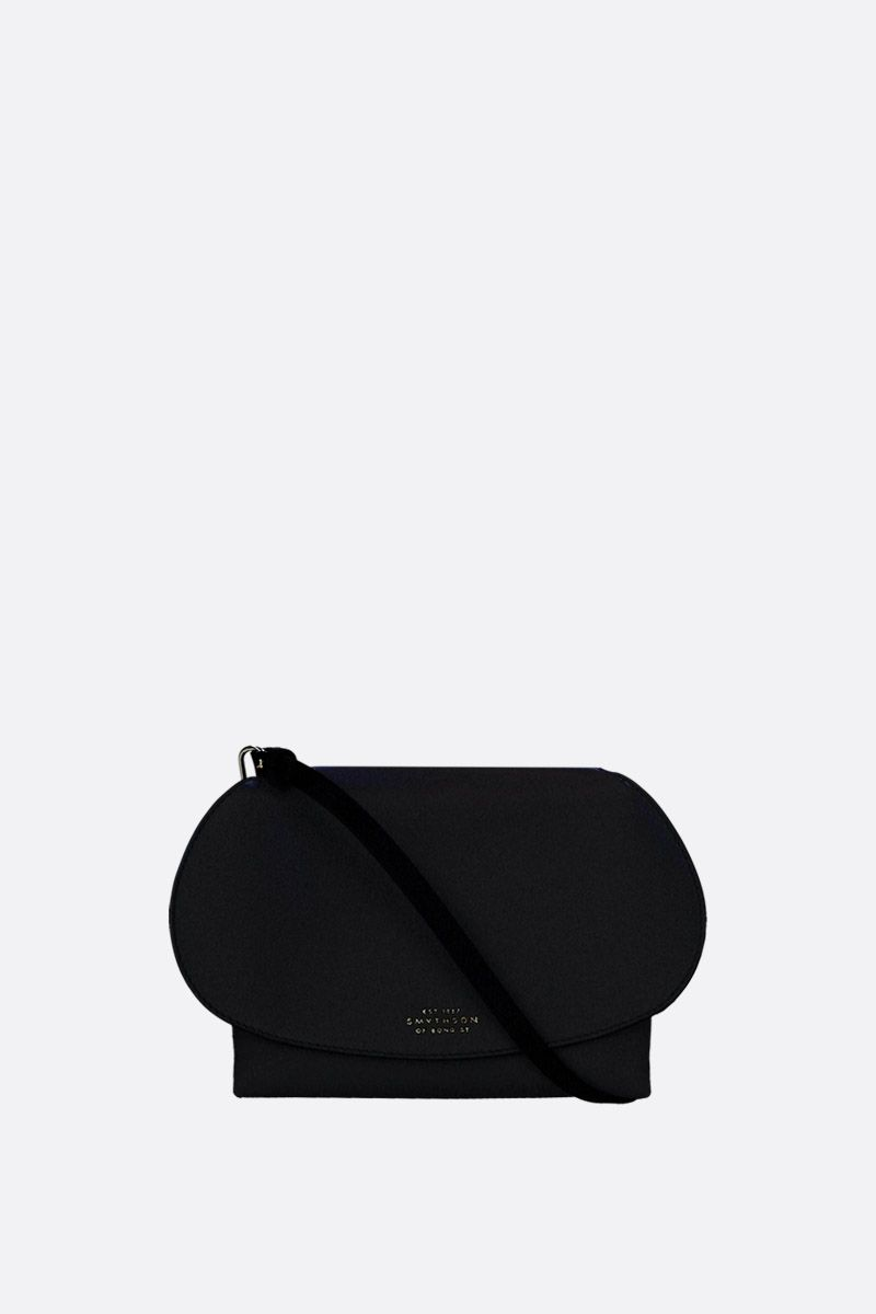 SMYTHSON: mini Pillow crossbody bag in smooth leather Color Black_1