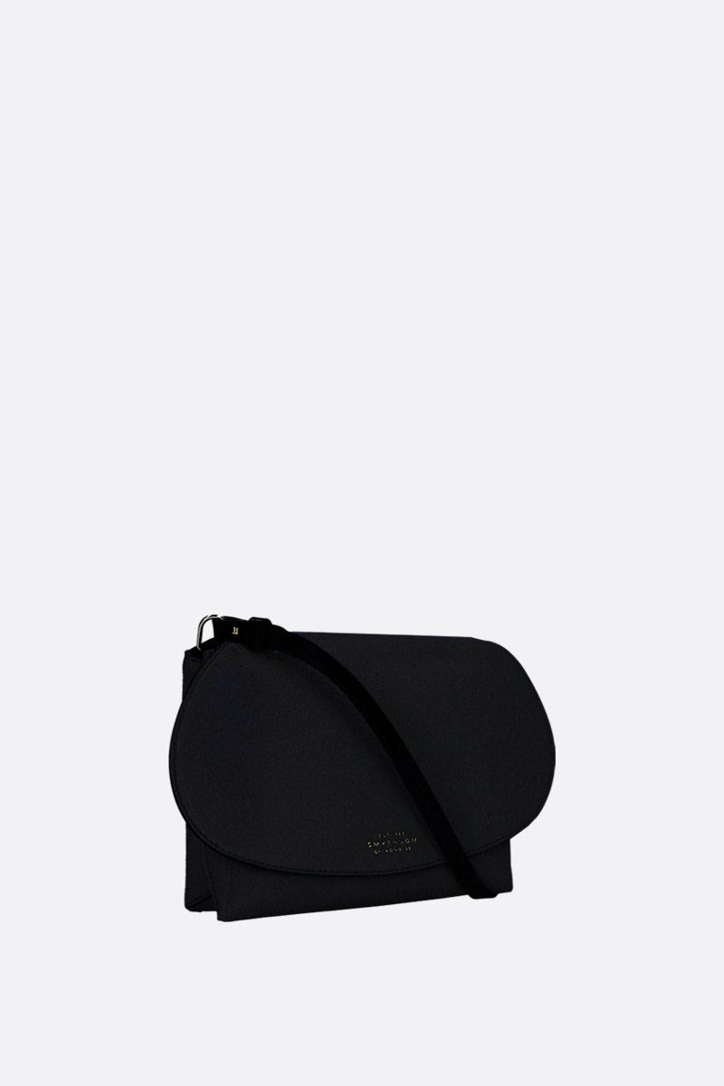 SMYTHSON: mini Pillow crossbody bag in smooth leather Color Black_2