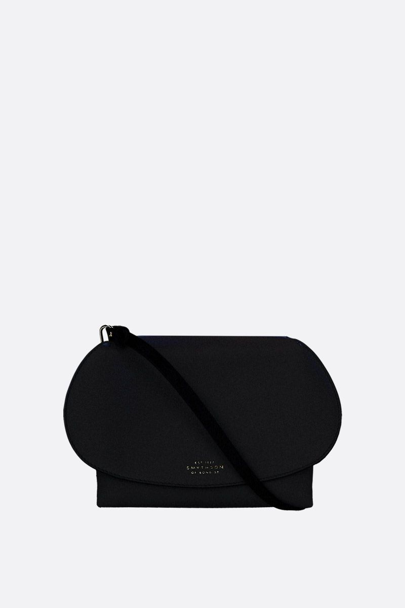SMYTHSON: Pillow crossbody bag in smooth leather Color Black_1