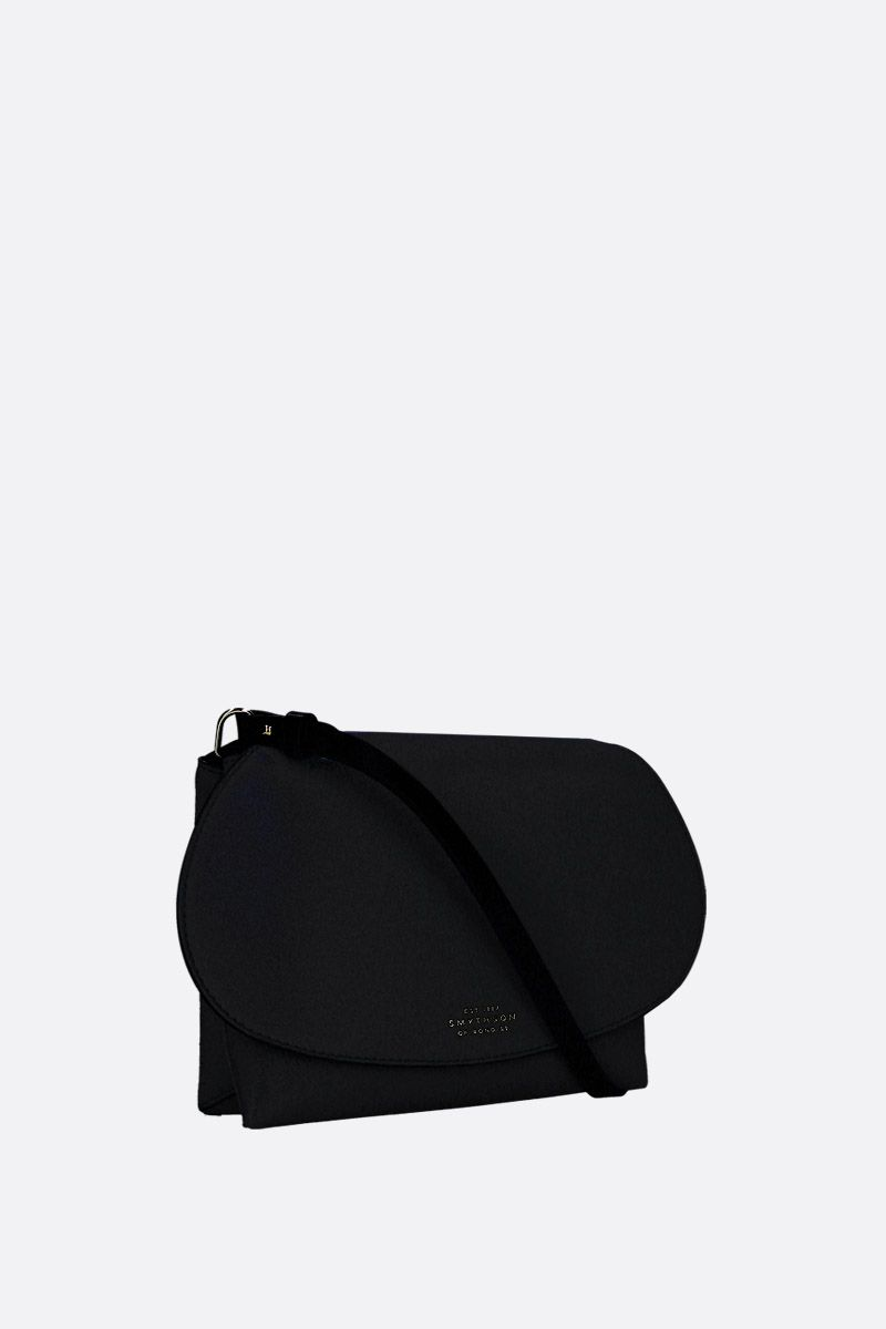 SMYTHSON: Pillow crossbody bag in smooth leather Color Black_2