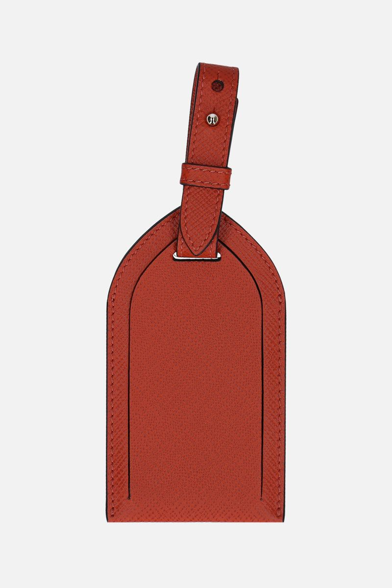 SMYTHSON: Panama luggage tag in crossgrain leather_1