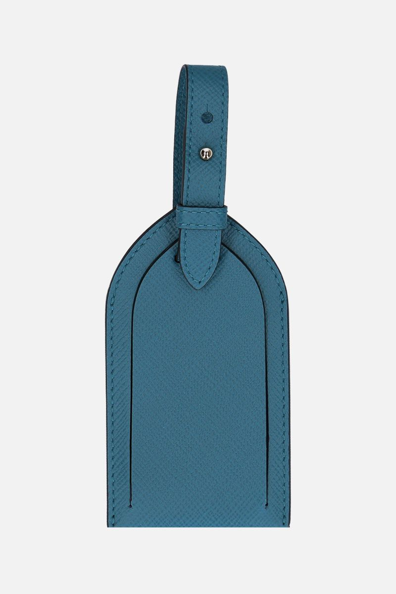 SMYTHSON: luggage tag Panama in pelle crossgrain Colore Verde_1
