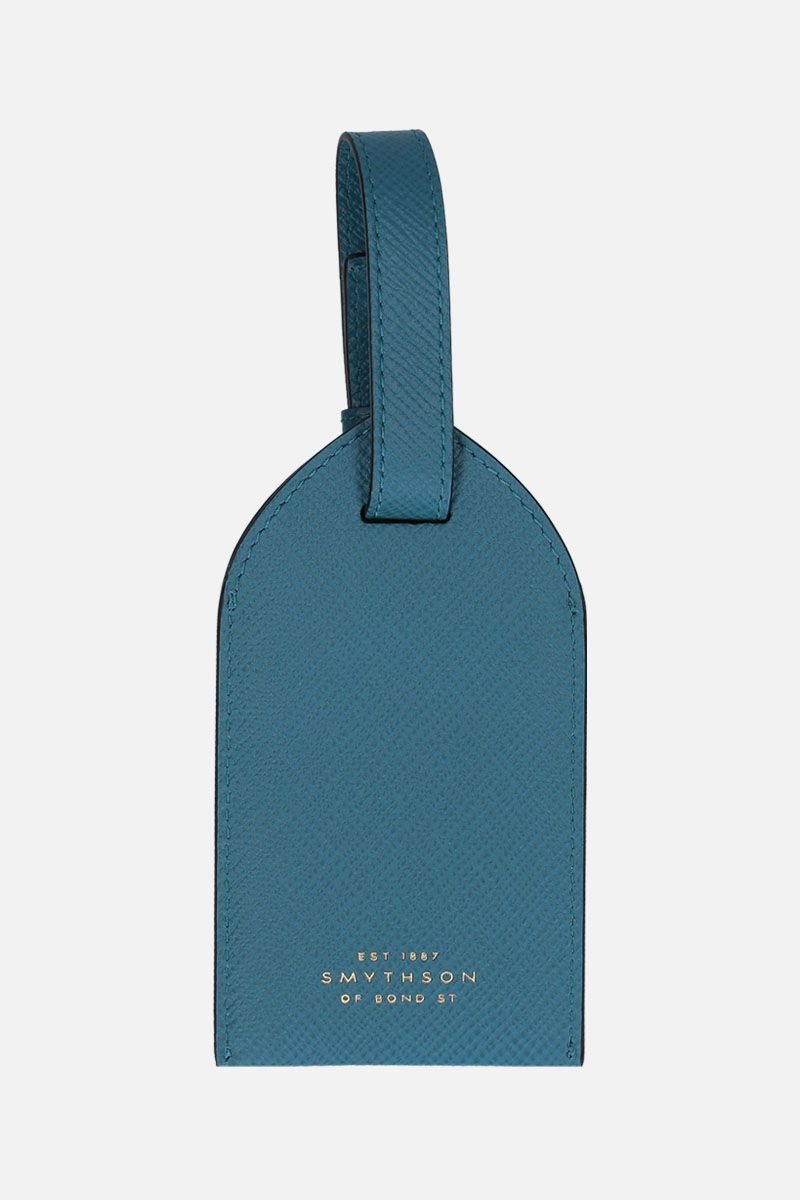 SMYTHSON: luggage tag Panama in pelle crossgrain Colore Verde_2