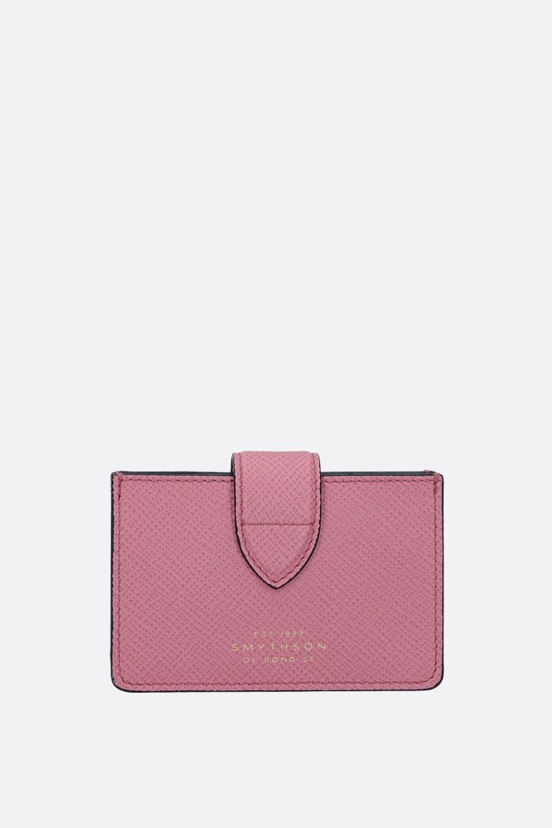 SMYTHSON: Panama card case in crossgrain leather Color Pink_1