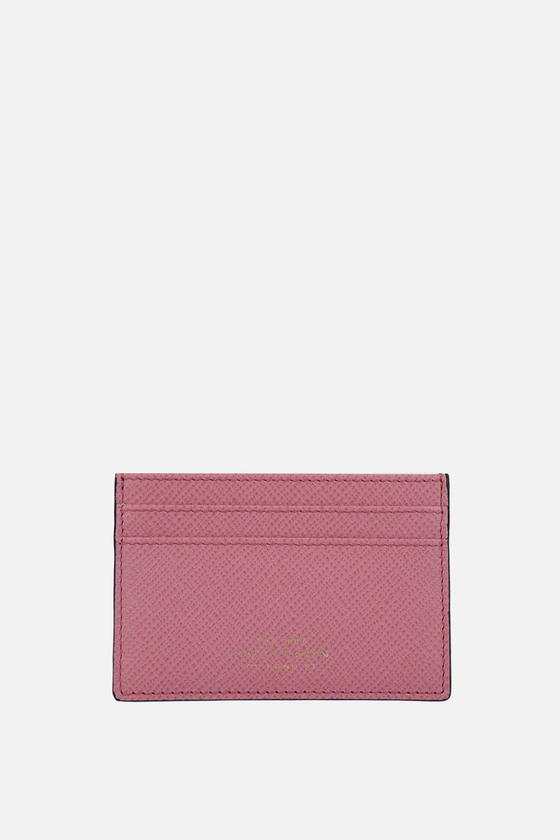 SMYTHSON: porta carte Panama in pelle crossgrain Colore Rosa_1