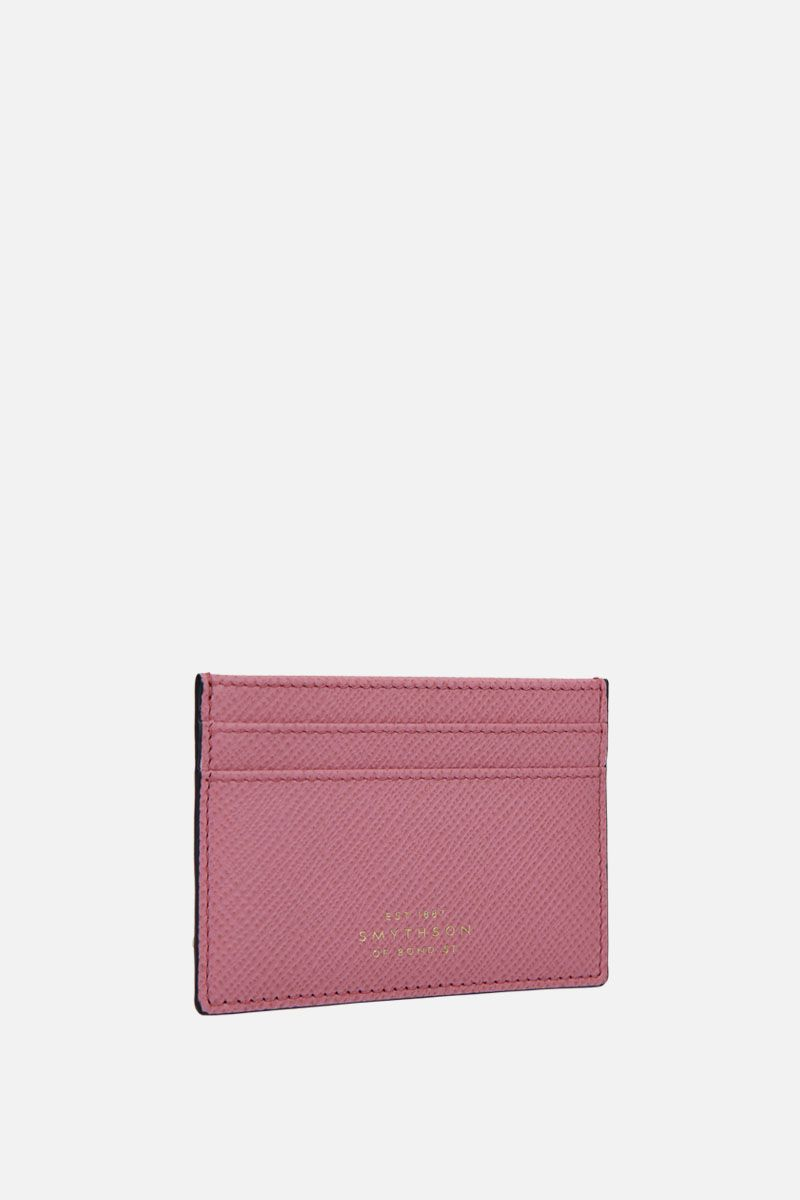 SMYTHSON: porta carte Panama in pelle crossgrain Colore Rosa_2