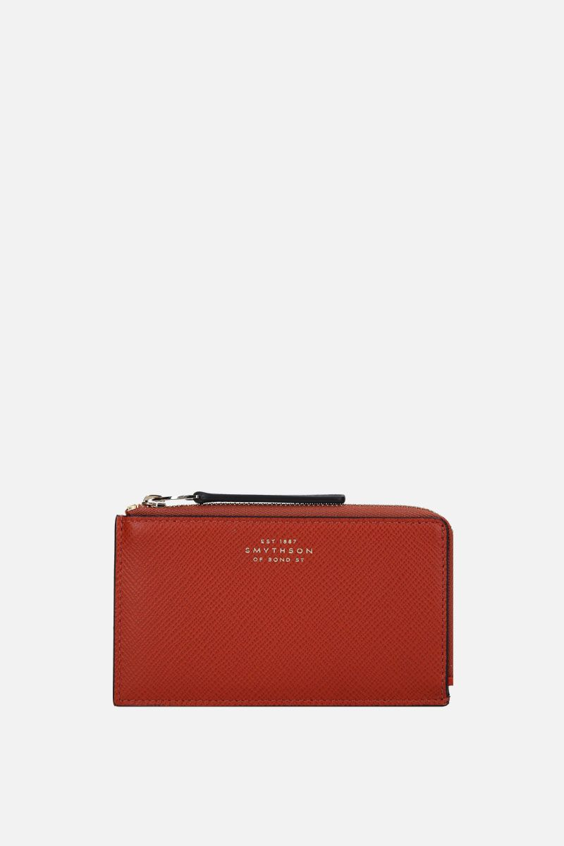 SMYTHSON: Panama coin purse in crossgrain leather_1