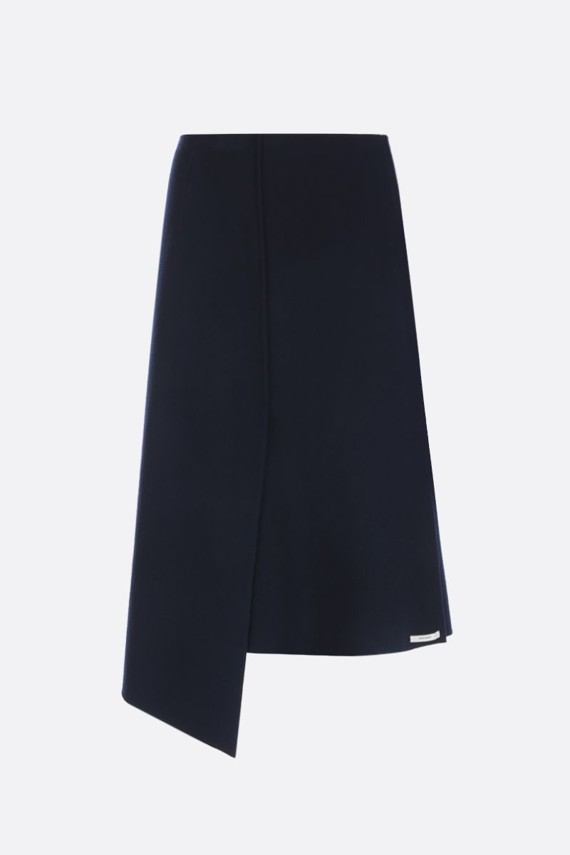 SPORTMAX: gonna midi Anania in lana Colore Blu_1