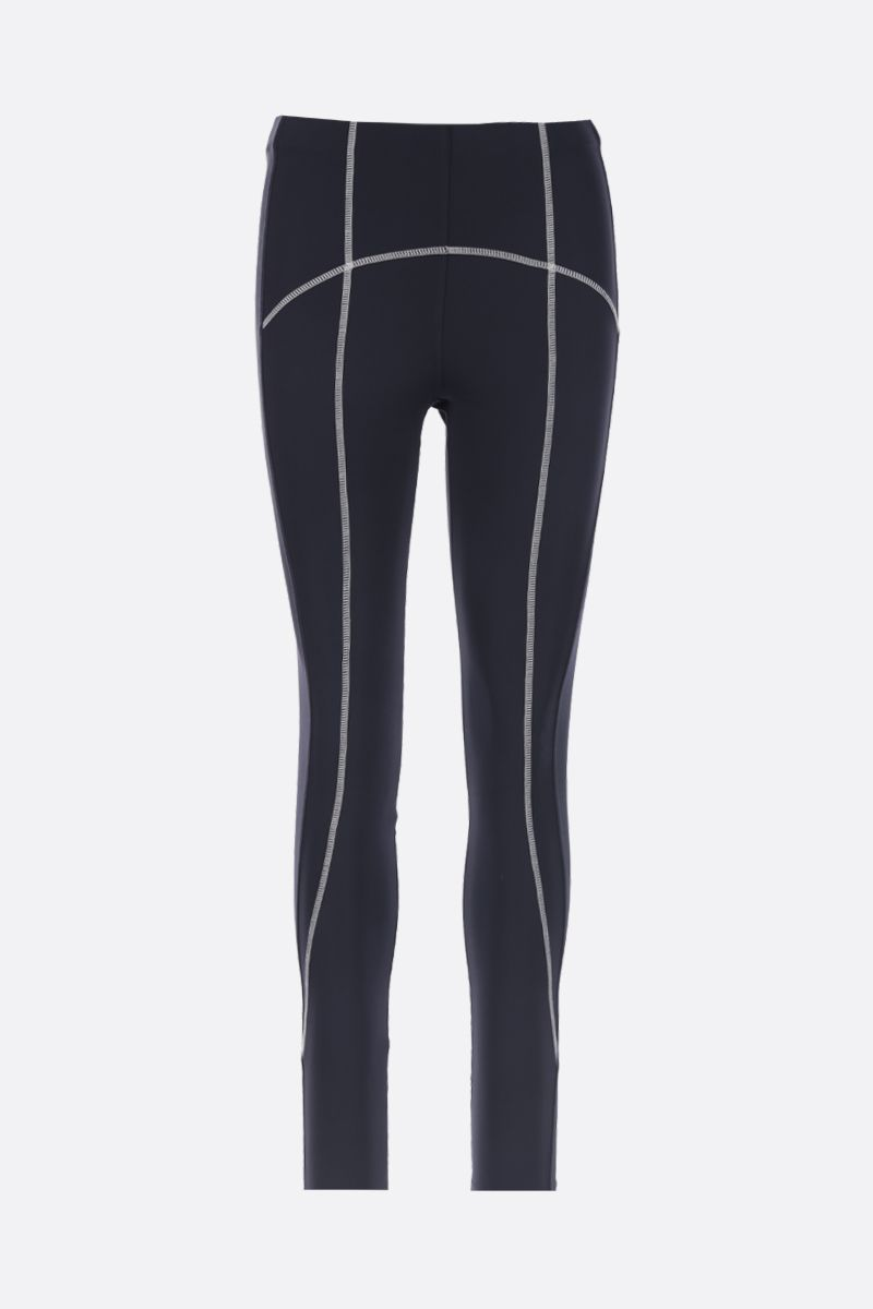 SPORTMAX: Galilea leggings in stretch jersey Color Blue_1
