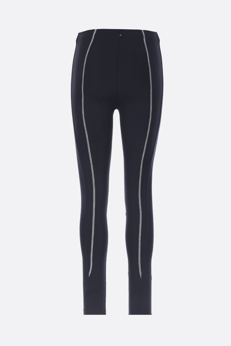 SPORTMAX: Galilea leggings in stretch jersey Color Blue_2