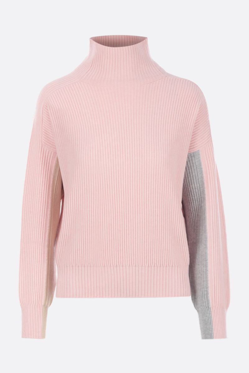 SPORTMAX: Locusta pullover in wool blend knit Color Pink_1