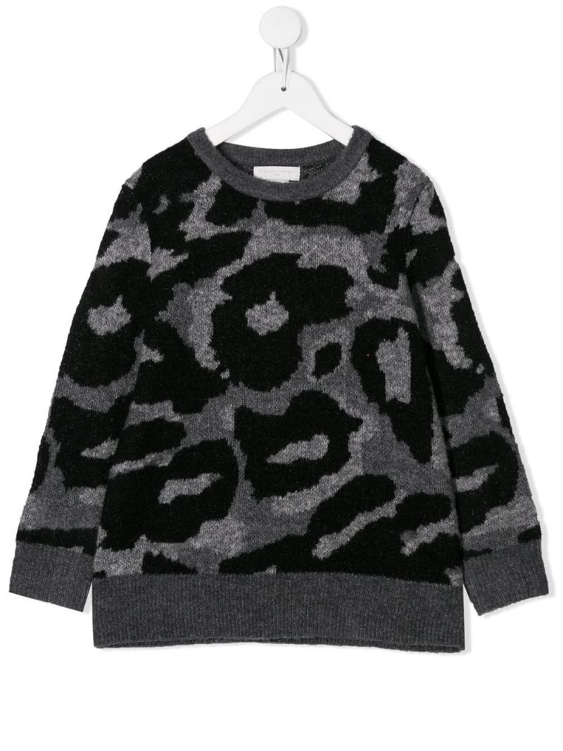 STELLA McCARTNEY KIDS: camouflage wool blend pullover Color Multicolor_1