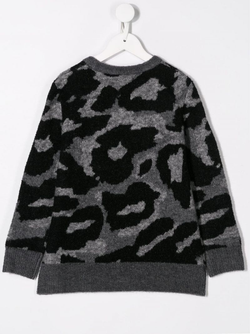 STELLA McCARTNEY KIDS: camouflage wool blend pullover Color Multicolor_2