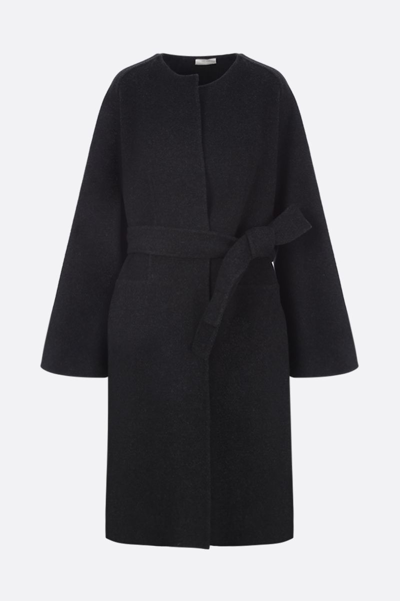 THE ROW: Laurence wrap coat in wool blend Color Grey_1