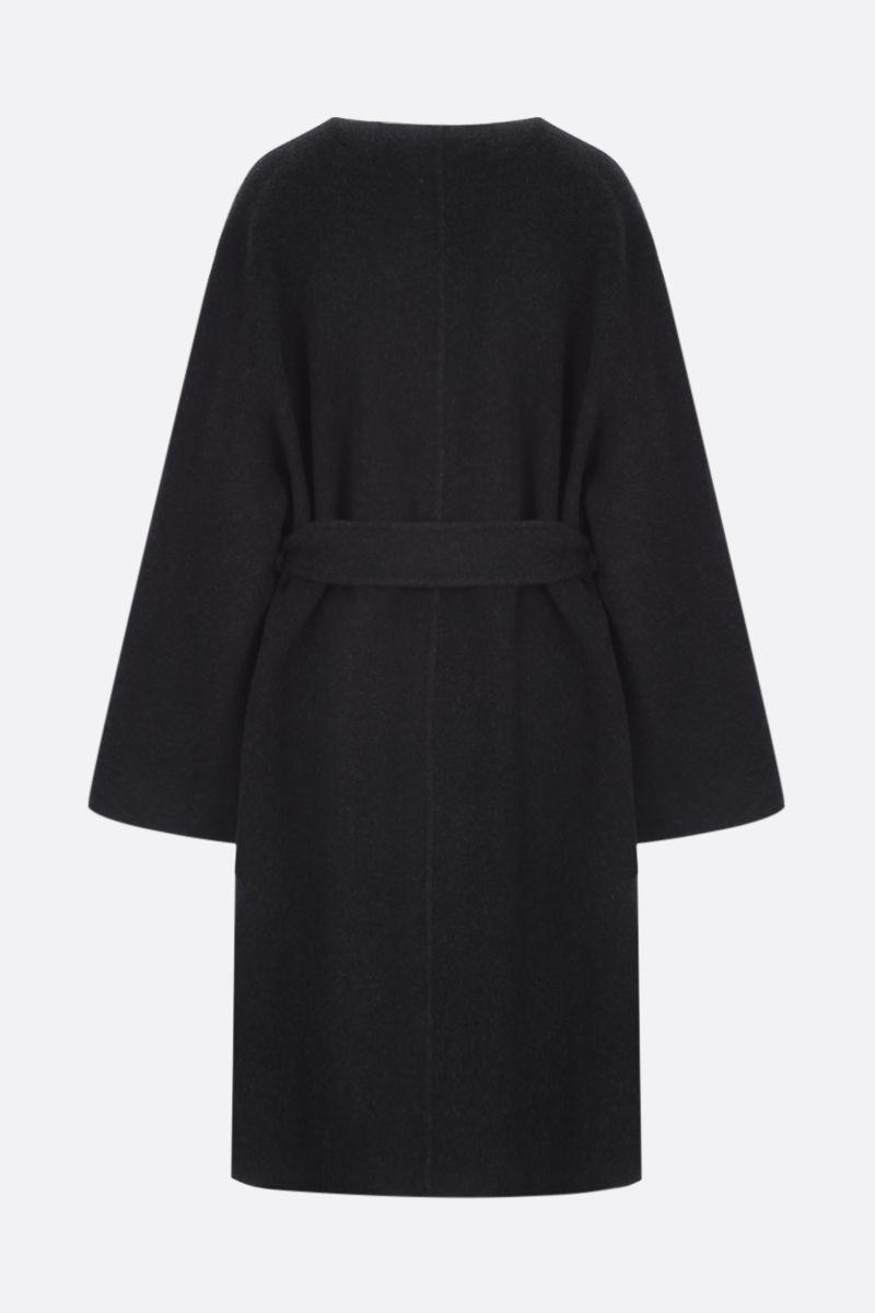 THE ROW: Laurence wrap coat in wool blend Color Grey_2