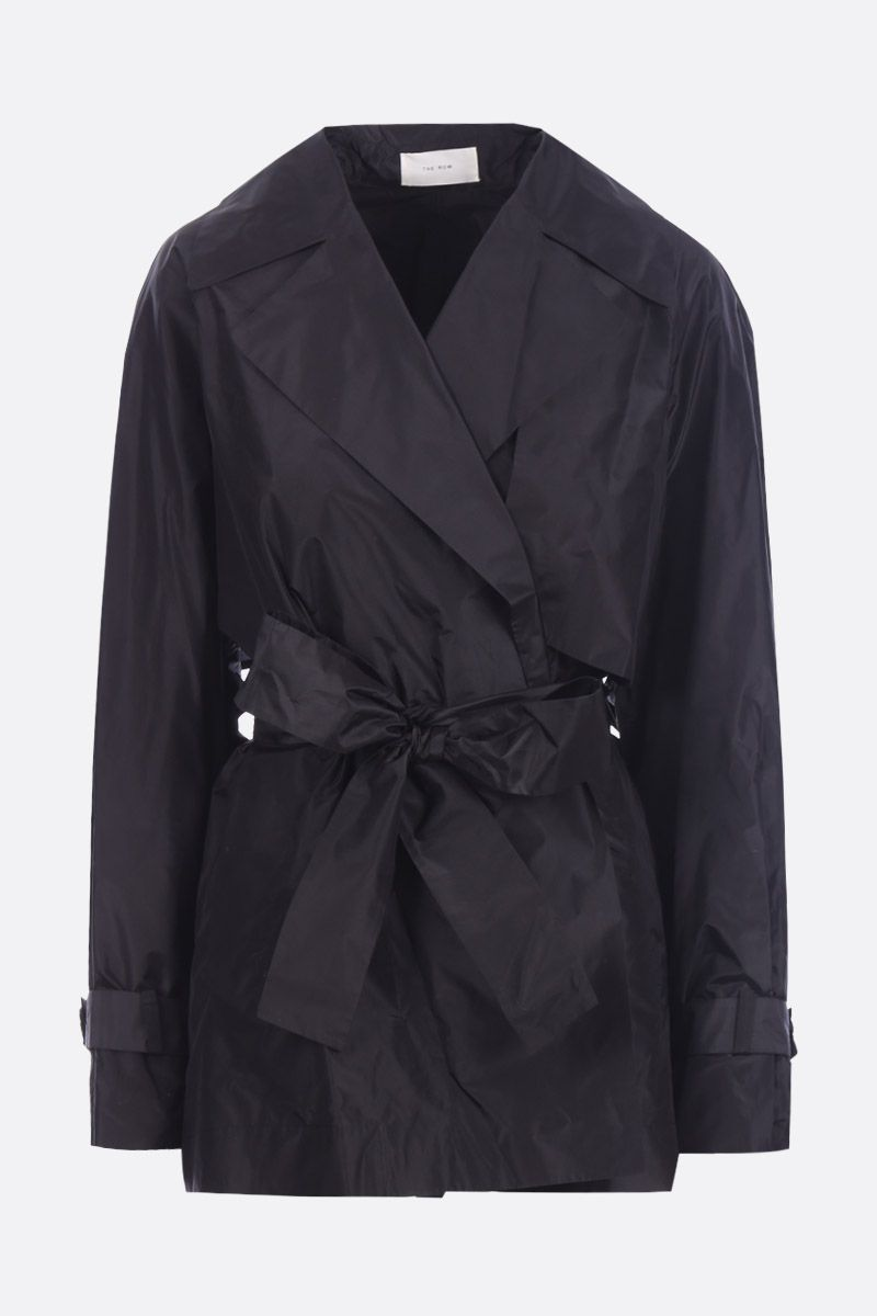 THE ROW: trench kimono Keera in seta Colore Nero_1