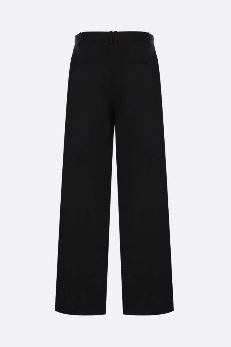 THE ROW: Nick wide-leg tailored pants in virgin wool Color Black_2