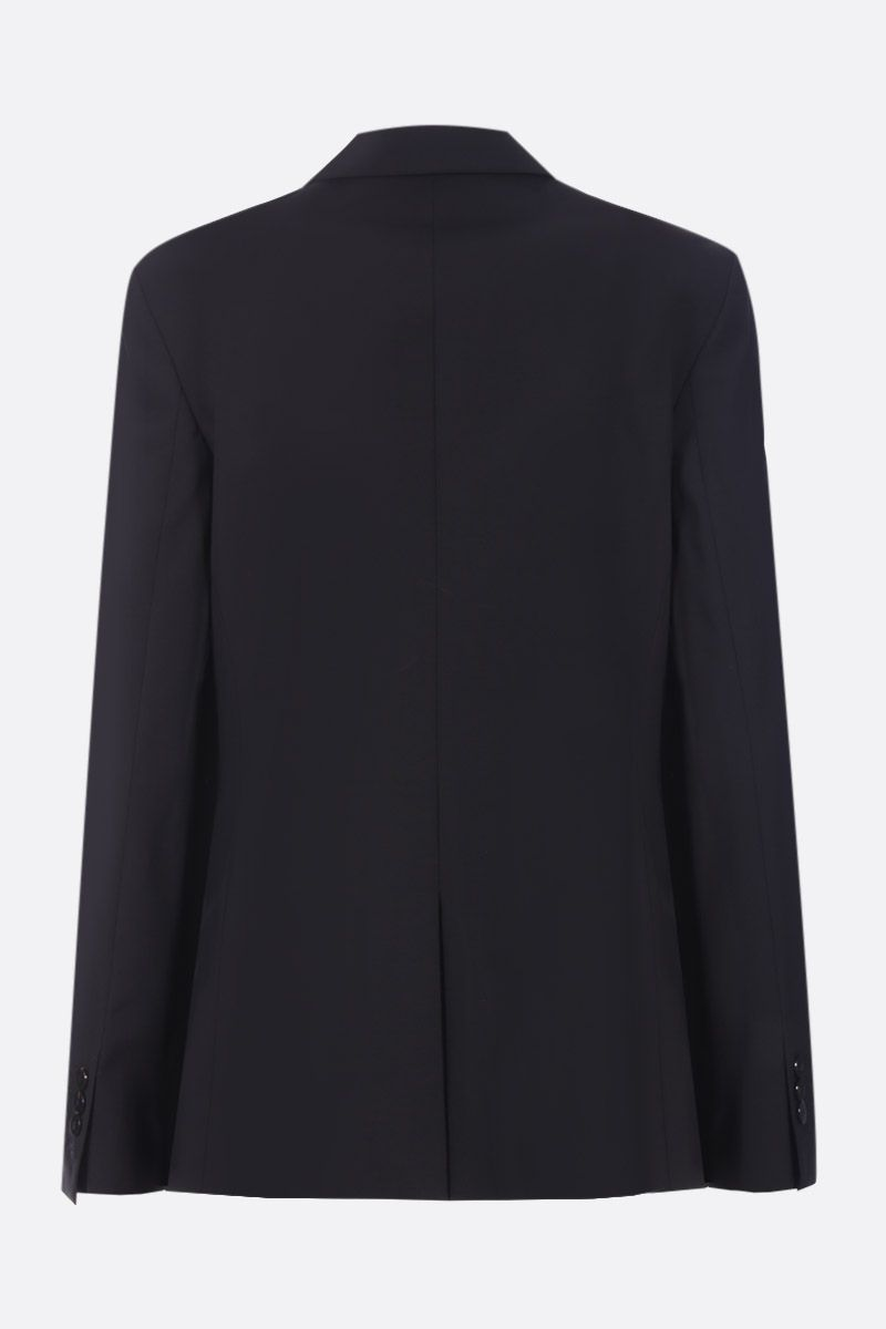 THEORY: stretch wool single-breasted jacket Color Black_2