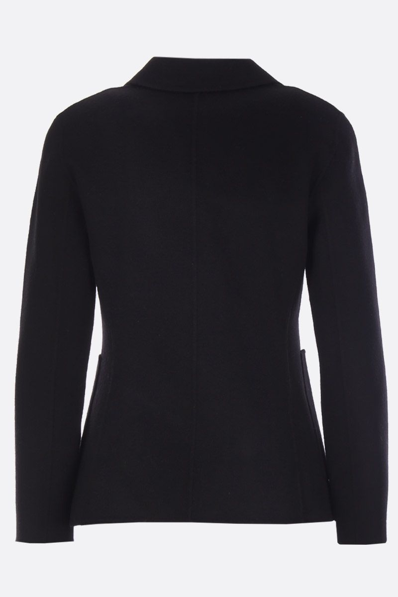 THEORY: Shrunken single-breasted jacket in wool and cashmere Color Black_2