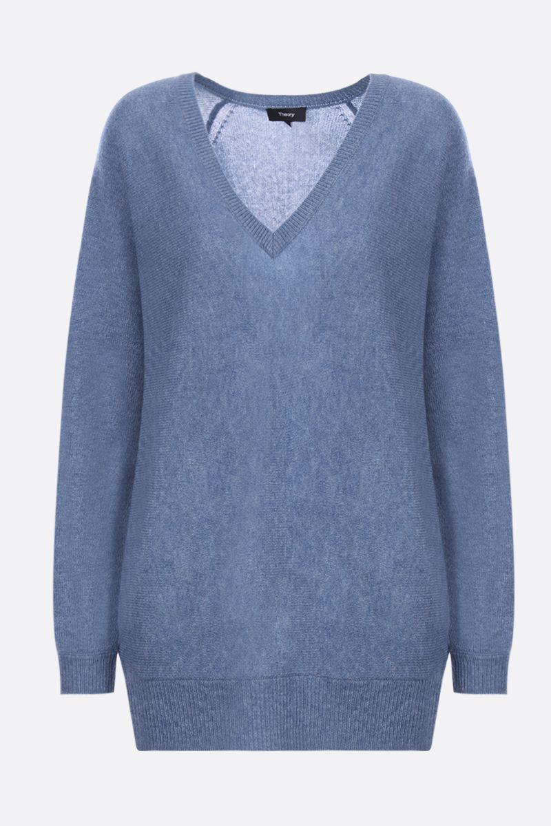 THEORY: pullover Dolman in cashmere Colore Blu_1