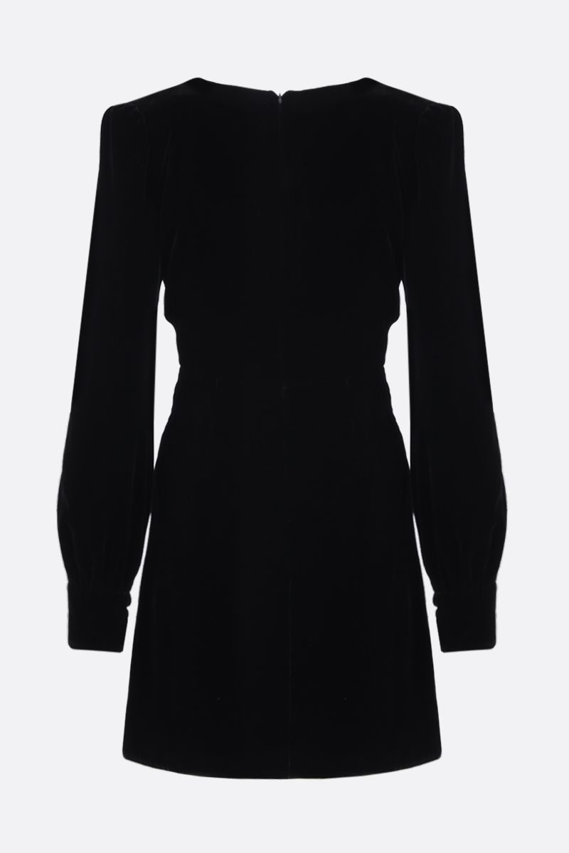 TOM FORD: velvet minidress with twisted detail Color Black_2