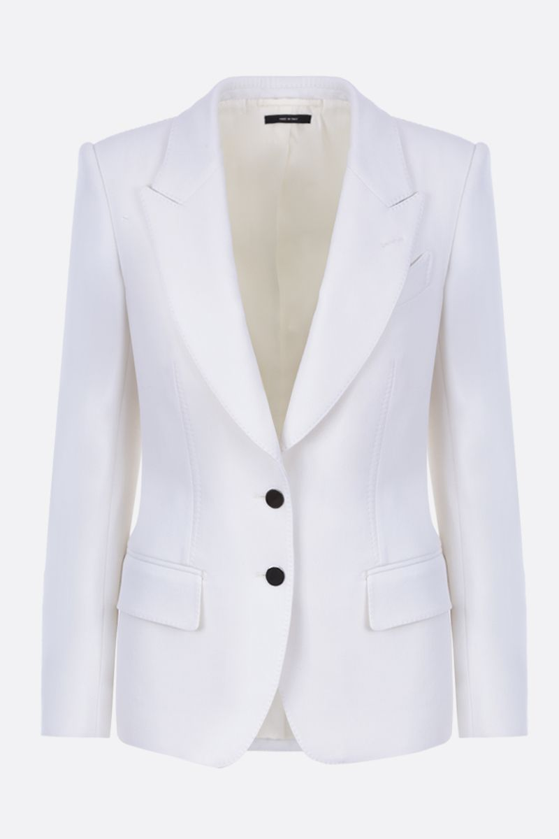 TOM FORD: single-breasted jacket in stretch wool Color Neutral_1
