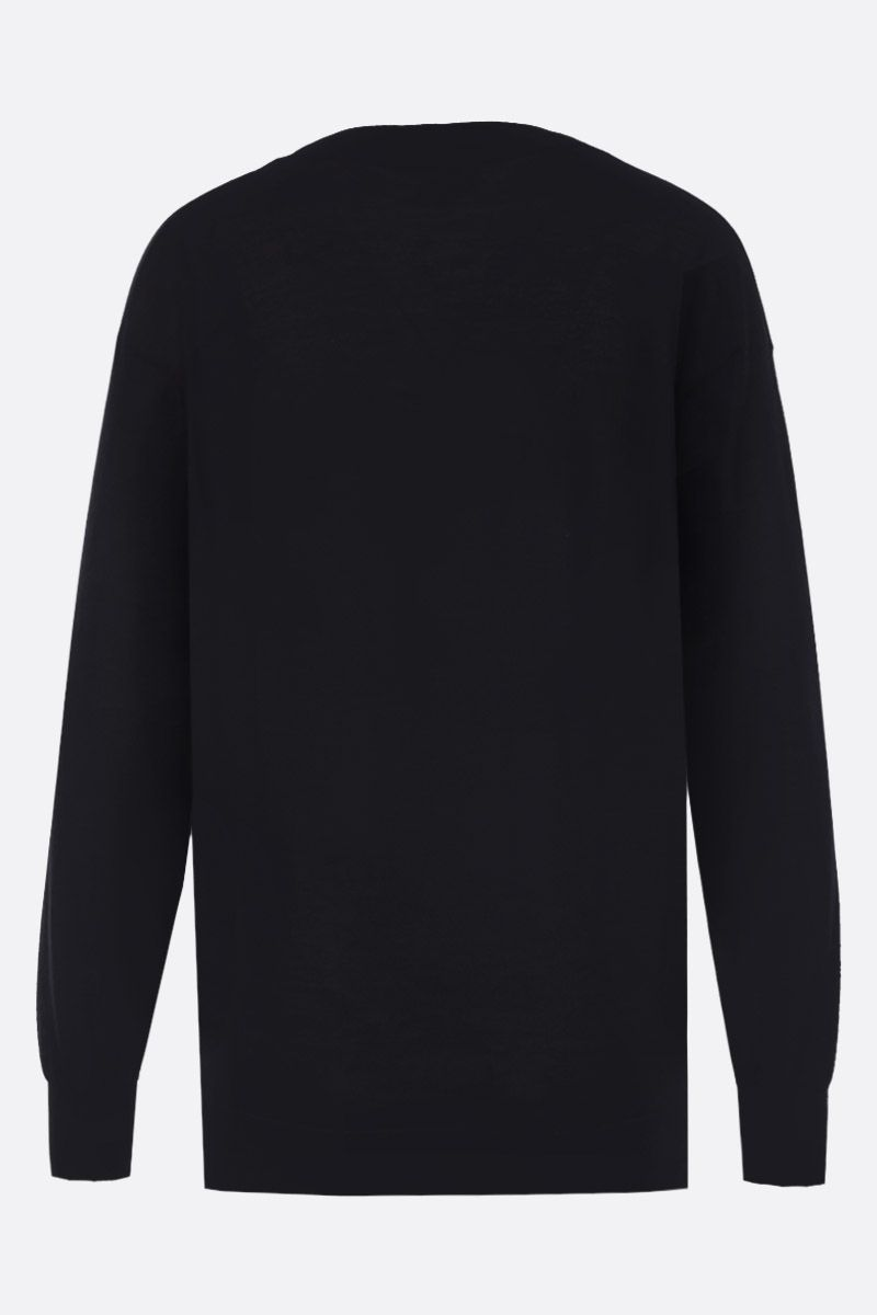 TOM FORD: cashmere silk blend lightweight pullover Color Black_2