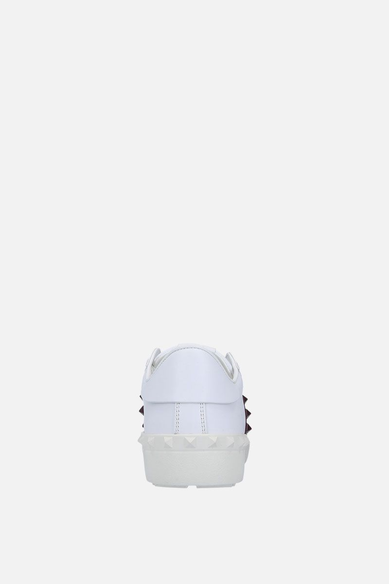 VALENTINO GARAVANI: Open Rockstud Untitled sneakers in smooth leather Color White_3