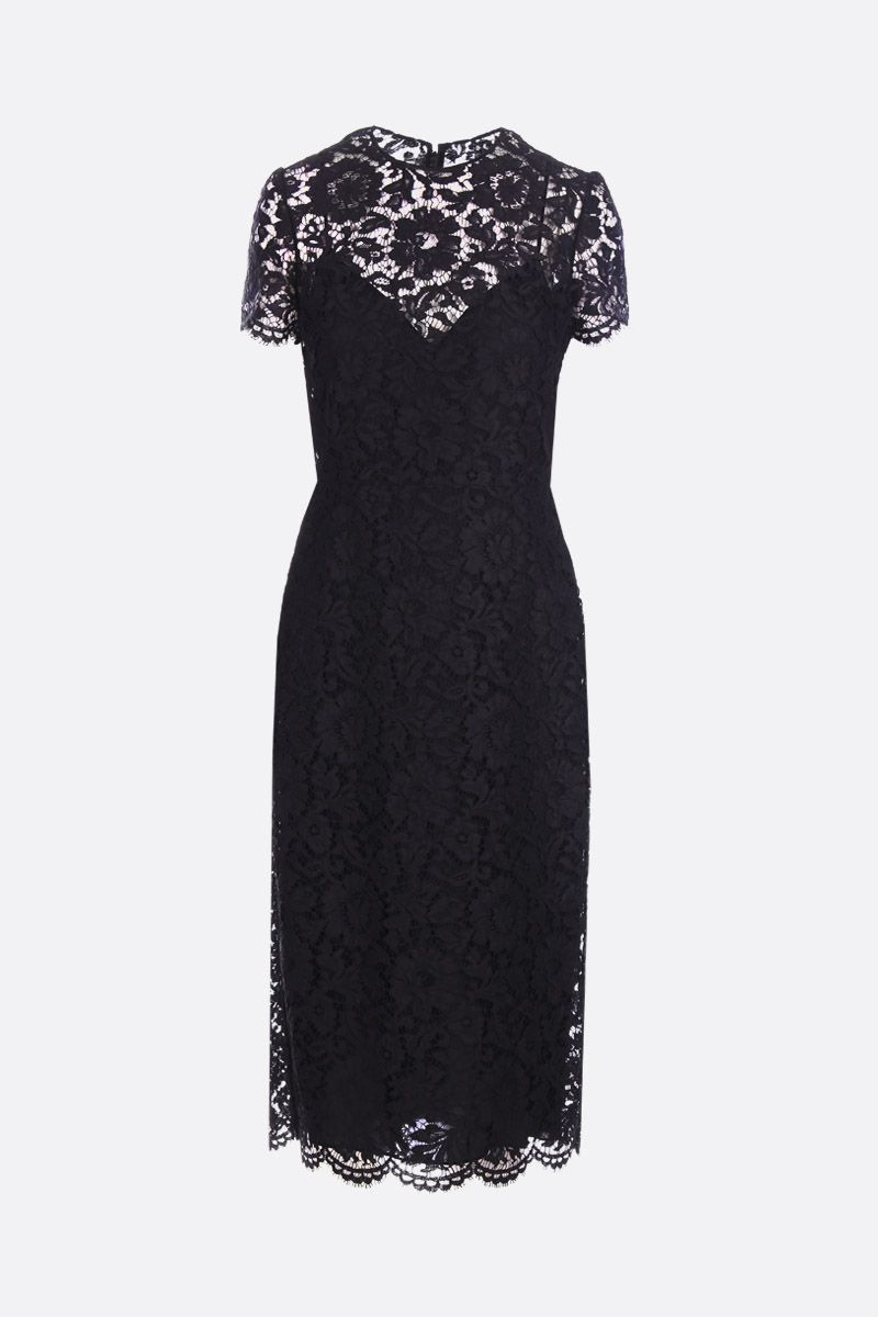 VALENTINO: pencil dress iin Heavy Lace Color Black_1