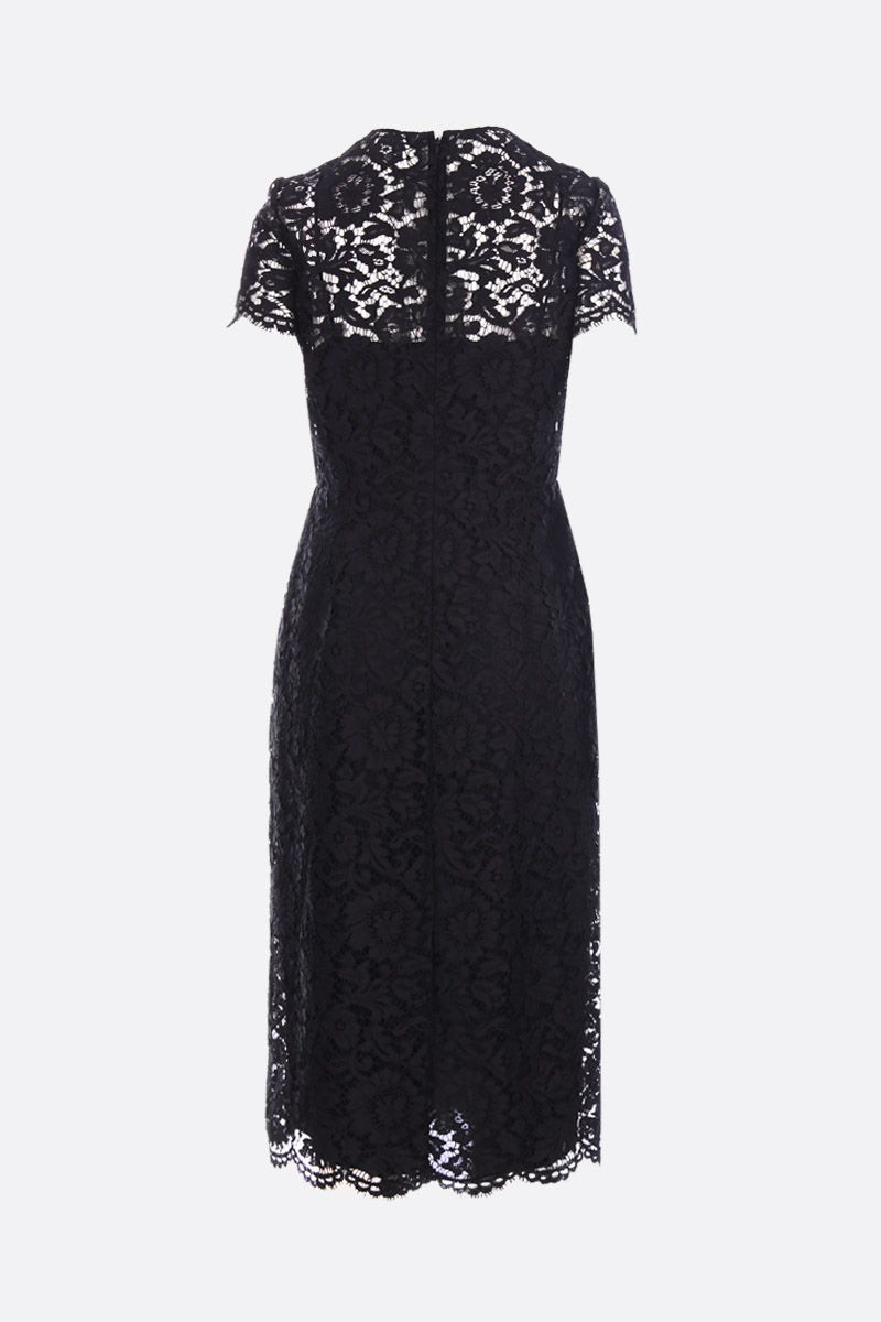 VALENTINO: pencil dress iin Heavy Lace Color Black_2