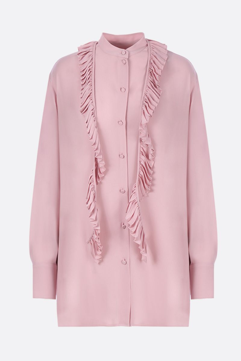 VALENTINO: georgette shirt with pleated detail Color Pink_1