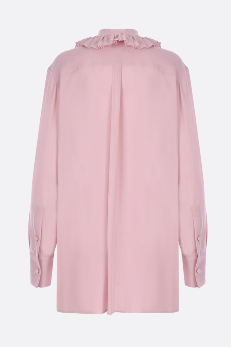 VALENTINO: georgette shirt with pleated detail Color Pink_2