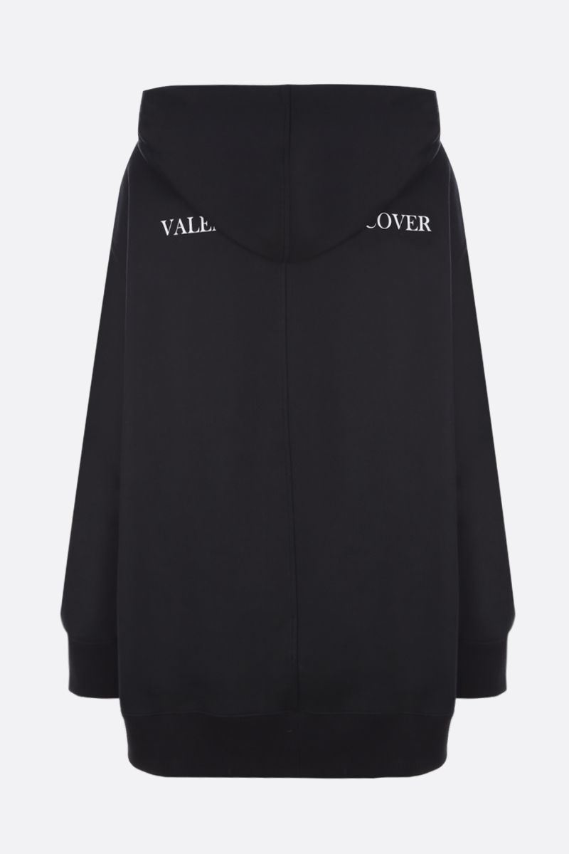 VALENTINO: Lovers print jersey oversized hoodie Color Black_2