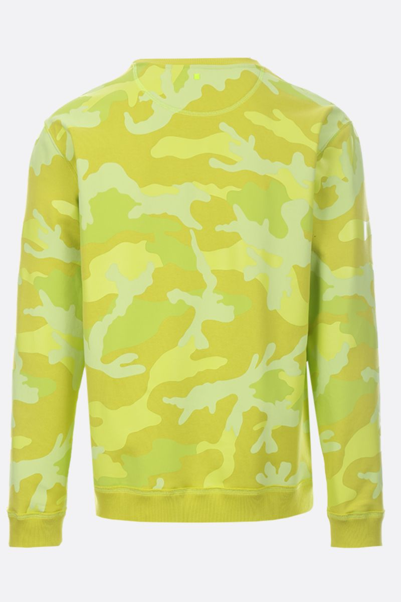 VALENTINO: camouflage print jersey sweatshirt Color Yellow_2