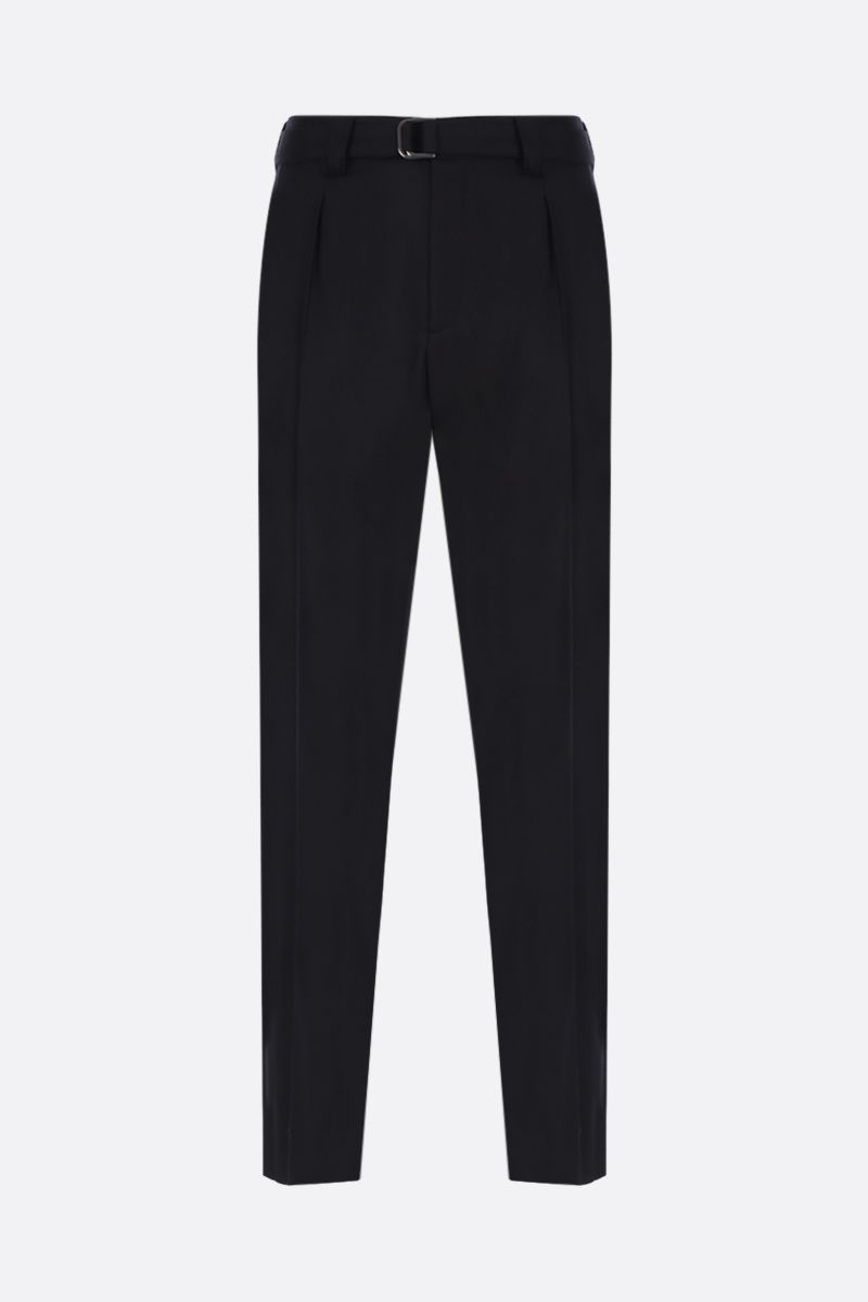 VALENTINO: regular-fit pants in stretch wool Color Black_1