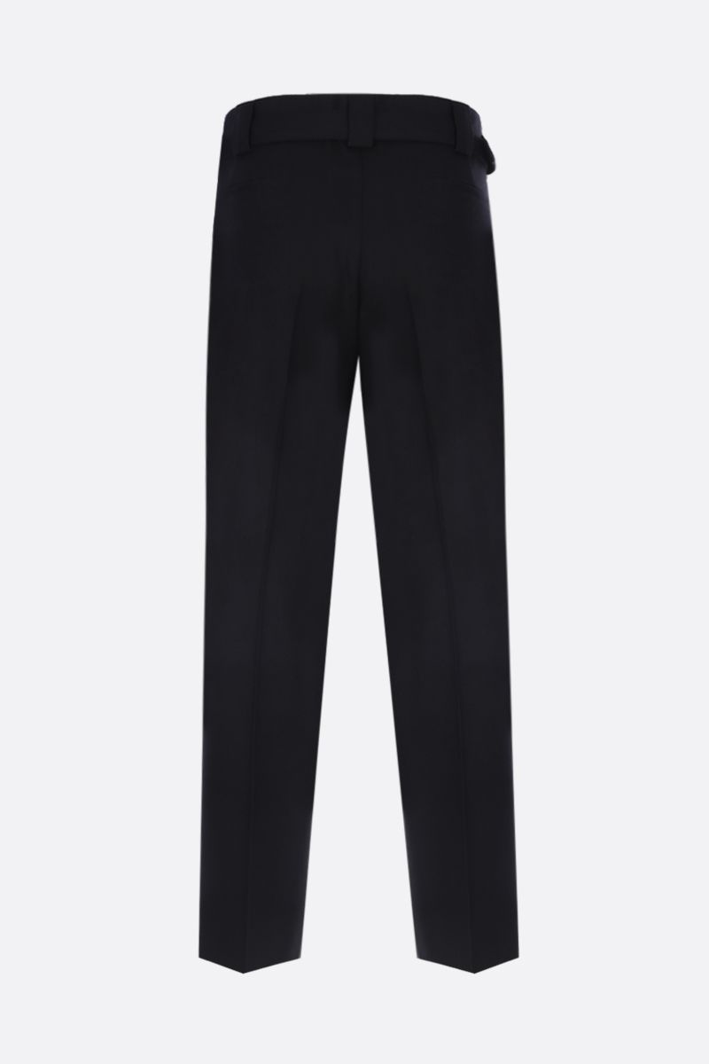 VALENTINO: regular-fit pants in stretch wool Color Black_3