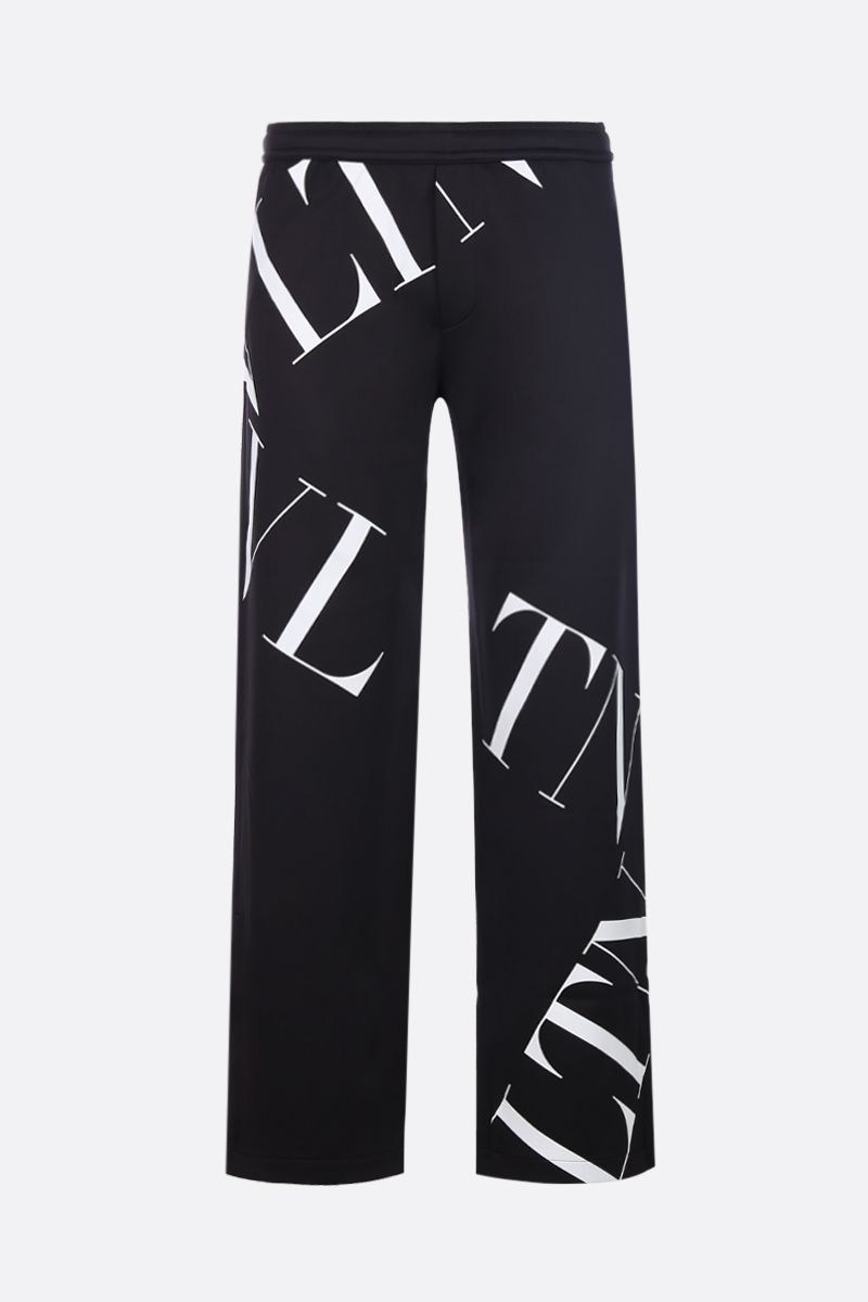 VALENTINO: VLTN Macrogrid technical jersey joggers Color Black_1