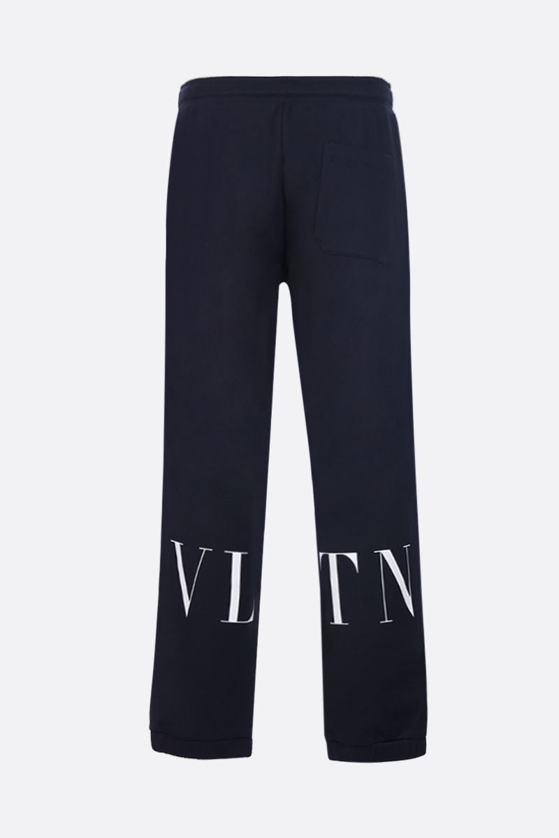 VALENTINO: VLTN print jersey joggers Color White_2