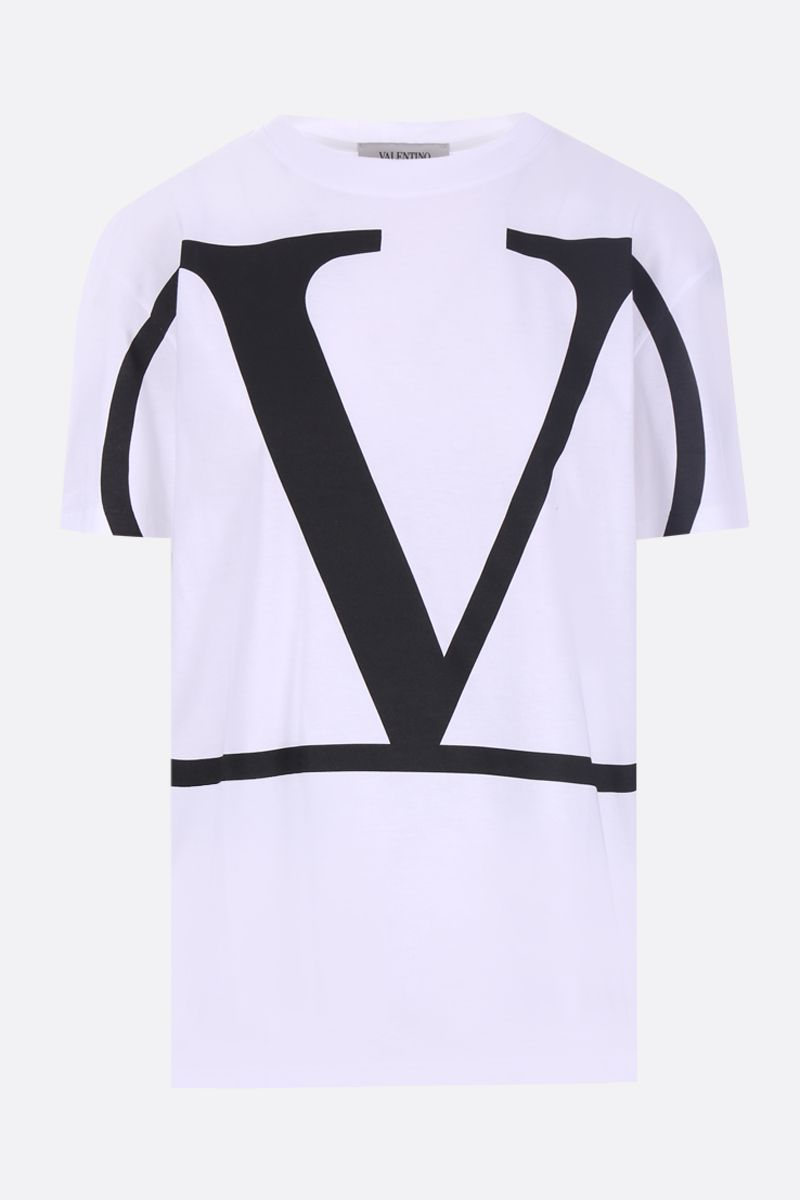 VALENTINO: VLOGO jersey t-shirt Color White_1
