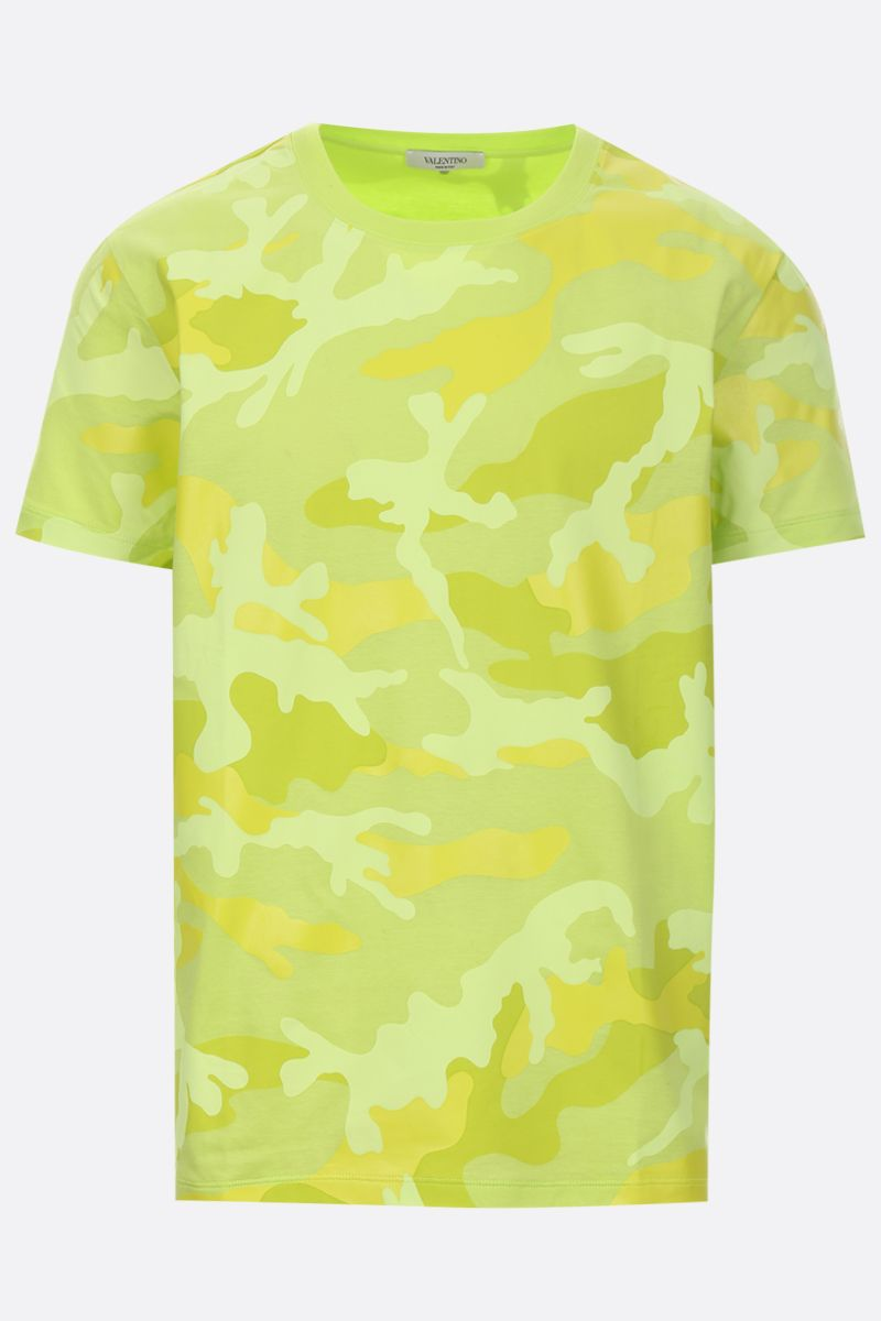 VALENTINO: camouflage print jersey t-shirt Color Yellow_1